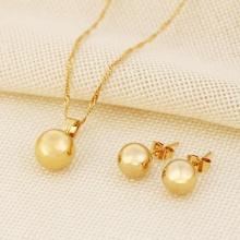 Bộ trang sức ngọc trai tự nhiên mạ vàng 14k - BTS101