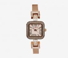 Đồng hồ nữ MS518E Mangosteen Seoul Hàn Quốc dây thép (Đồng hồng)