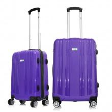 Set 2 vali chống bể Trip PP102 size 50cm + 60cm màu tím (tặng 1 gối cổ cao cấp (màu ngẫu nhiên)