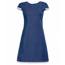 Đầm jean phối ren thời trang Eden