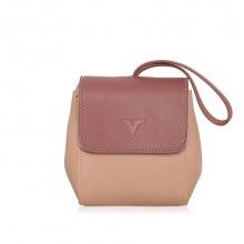 Túi thời trang verchini màu hồng + ruốc 005619