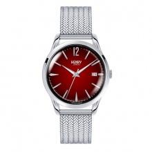 Đồng hồ Henry London HL39-M-0097 CHANCERY (bạc mặt đỏ)