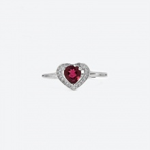 Nhẫn bạc mặt đá Ruby