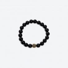 Vòng tay đá Obsidian mix charm VT46 Ngọc Quý Gemstones