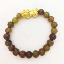 Vòng tay Tỳ Hưu mạ vàng 24k đá thạch anh tự nhiên - VTH5