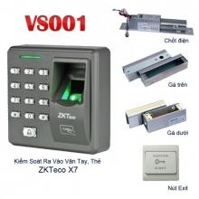 Hệ thống khóa cửa vân tay, thẻ VS001- X7