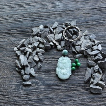 Móc khóa 12 con giáp cẩm thạch tuổi Thìn - Ngọc Quý Gemstones