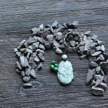 Móc khóa 12 con giáp cẩm thạch tuổi Thân - Ngọc Quý Gemstones