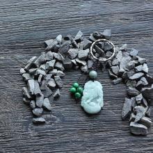 Móc khóa 12 con giáp cẩm thạch tuổi Sửu - Ngọc Quý Gemstones
