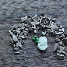 Móc khóa 12 con giáp cẩm thạch tuổi Hợi - Ngọc Quý Gemstones