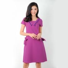Đầm suông thời trang Eden cổ thủy thủ - D268 (tím)