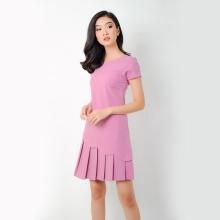 Đầm suông thời trang Eden xếp li - D274 (tím)
