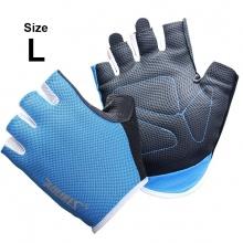 Găng tay tập gym ôm cổ tay (BLUE) găng tay nâng tạ, độ bám cao, thoáng khí, thoát mồ hôi POPO Collection (Xanh biển - size L)