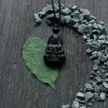 Mặt dây chuyền Phật Bà đá obsidian 3.2x2cm