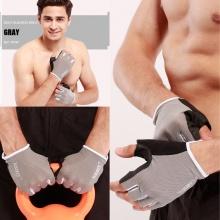 Găng tay tập gym mềm mai ôm cổ tay (GREY) găng tay nâng tạ, độ bám cao, thoáng khí, thoát mồ hôi POPO Collection (Bạc - size S)