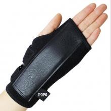 Găng tay thể hình nâng tạ (1 cái cho tay trái ) có khung thép trợ lực bảo vệ cổ tay khi tập tạ, gym POPO Collection (Đen)