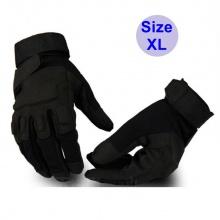 Găng tay vải thể thao BLACK_HAWK phượt, tập gym, găng tay quân sự đa năng chống trơn trượt POPO Collection (Đen - size Xl)
