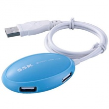 Hub USB 4 cổng SSK SHU017 (Xanh dương)