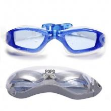 Kính bơi thời trang cao cấp 2360, mắt kính trong, chống UV, chống hấp hơi POPO Collection (Xanh biển)