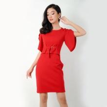 Đầm body thời trang Eden phối áo croptop - D269 (đỏ)