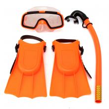 Kính lặn, ống thở, chân nhái trẻ em (dưới 8 tuổi) POPO Collection (Cam)