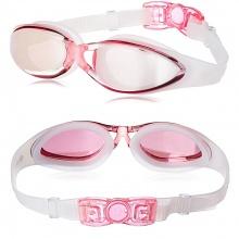 Kính bơi thời trang cao cấp G300, tráng gương chống lóa, chống UV POPO Collection (Hồng)