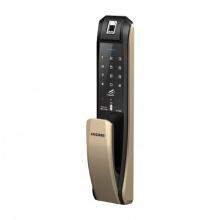 Khóa cửa vân tay-mật mã-thẻ Hione H7090 gold