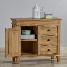 Tủ chén nhỏ Holy 1 cánh 3 ngăn gỗ sồi - Cozino