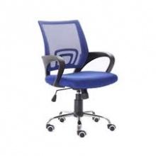 Ghế lưới văn phòng CZN502 chân thép mạ màu xanh - COZINO