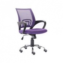Ghế lưới văn phòng CZN502 chân thép mạ màu tím - COZINO