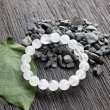 Vòng thạch anh ưu linh trắng Malaysia 10mm Ngọc Quý Gemstones