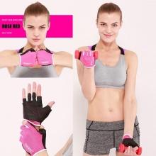Găng tay tập gym ôm cổ tay (PINK) găng tay nâng tạ, độ bám cao, thoáng khí, thoát mồ hôi POPO Collection (Hồng - size M)