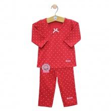 Bộ dài bé gái BA0963 - Size 7 (Đỏ) - HELLO B&B