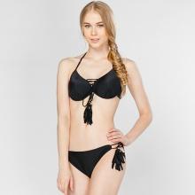 Bikini hai mảnh cột dây gợi cảm đen P2P Bikini