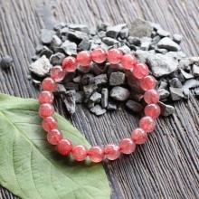 Thạch anh ưu linh dâu đỏ Myanmar 9mm Ngọc Quý Gemstones