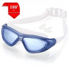 Kính bơi tầm nhìn rộng 180 độ, tráng gương, chống tia UV BLUE POPO Collection (Xanh biển)