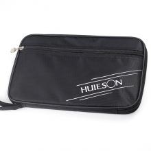 Bao đựng vợt, túi đựng vợt bóng bàn HUI 2 ngăn chữ nhật; bảo vệ vợt; chất liệu cao cấp POPO Collection (Đen)