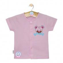Áo cài giữa màu tay ngắn AL0004 - Size 3,4(Hồng nhạt) - HELLO B&B