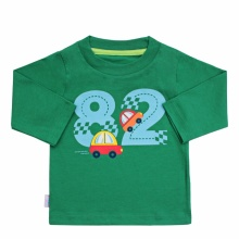 Áo T shirt AL0865 - HELLO B&B - Size 9,10 (Xanh rêu)