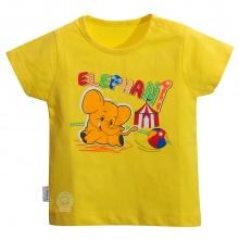 Áo nút vai màu tay ngắn - HELLO B&B - AL0607 - Size 7,8 (Vàng)