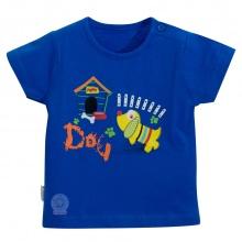 Áo nút vai màu tay ngắn - HELLO B&B - AL0607 - Size 9,10 (Xanh dương)