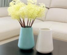 Bình hoa sứ cao cấp  không có quai ( màu xanh, trắng)