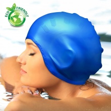 Nón bơi, mũ bơi trùm tai thời trang cao cấp Popo Collection (Skyblue)