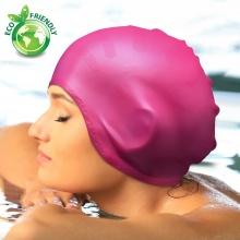 Nón bơi, mũ bơi trùm tai thời trang cao cấp Popo Collection (Hồng)
