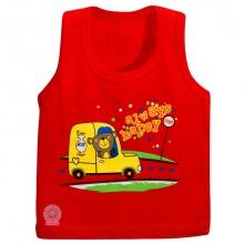 Áo 3 lỗ in keo màu - AL0181 - Size 9 -10 ( Đỏ ) - HELLO B&B