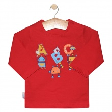 Áo nút vai màu tay dài AL0609 - HELLO B&B - Size 1,2 (Màu đỏ)