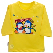 Áo nút vai màu tay dài AL0609 - HELLO B&B - Size 1,2 (Màu vàng)