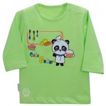 Áo nút vai màu tay dài AL0609 - HELLO B&B - Size 1,2 (Xanh chuối)
