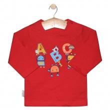 Áo nút vai màu tay dài AL0609 - HELLO B&B - Size 5,6 (Màu đỏ)