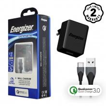Sạc Energizer Quick Charge Qualcomm 3.0 18W kèm cáp USB Type-C - AC1Q3EUUC23